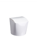 550ml Waxed Food/Ice Cream Box - White